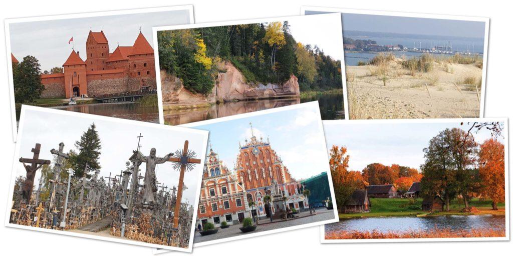 Übersicht zum Roadtrip durch Litauen und Lettland