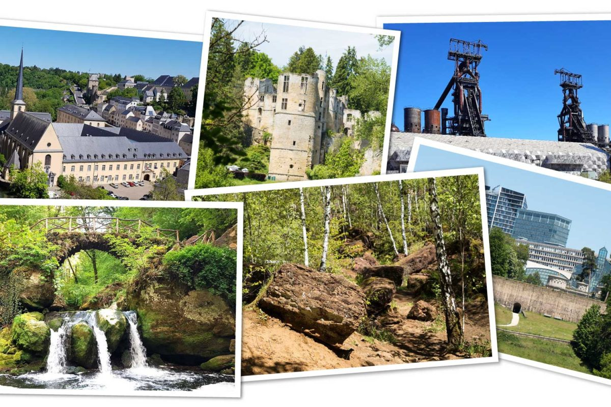 Übersicht zur Reiseroute durch Luxemburg