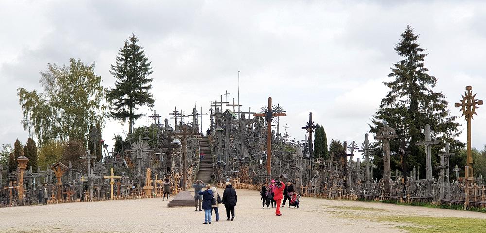 Der Berg der Kreuze in Litauen