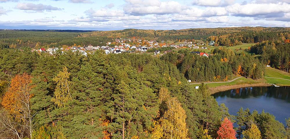 Blick vom Aussichtsturm in Ignalina