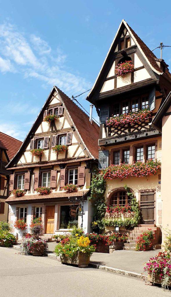Fachwerkhäuser in Dambach - la - Ville