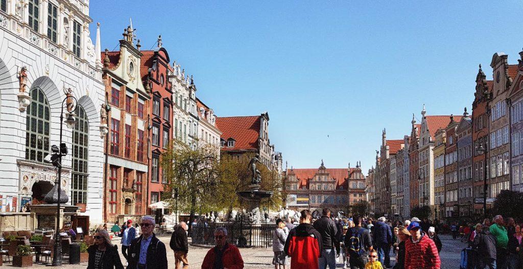Städtetrip Danzig - Langer Markt mit Neptunbrunnen