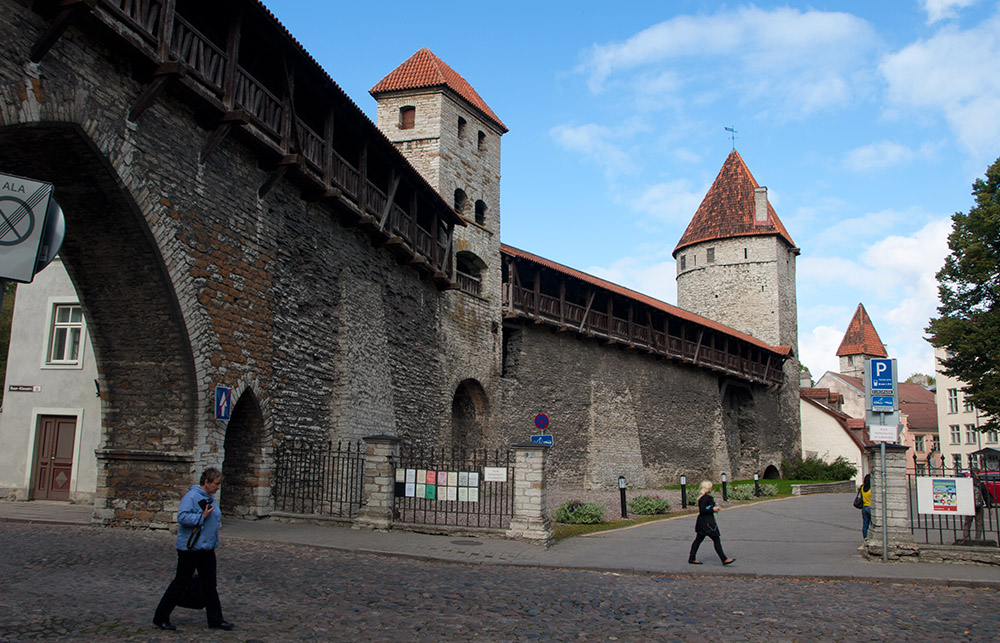 Die Türme Nunna, Sauna und Kuldjala in Tallinn