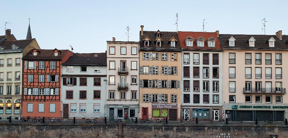 Häuserreihe Straßburg