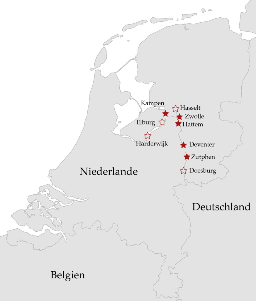 Übersicht Hansestädte Niederlande