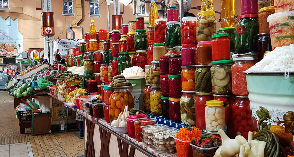 Angebot der Bessarabska Markthalle - Kiew