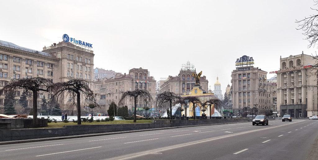 Maidan Nesaleschnosti und das Ljadski-Tor in Kiew