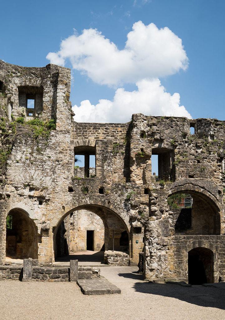Luxemburg Schloss Beaufort Innenansicht