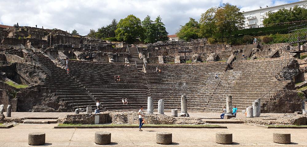 Théâtre Gallo Romain - das  Amphitheater in Lyon
