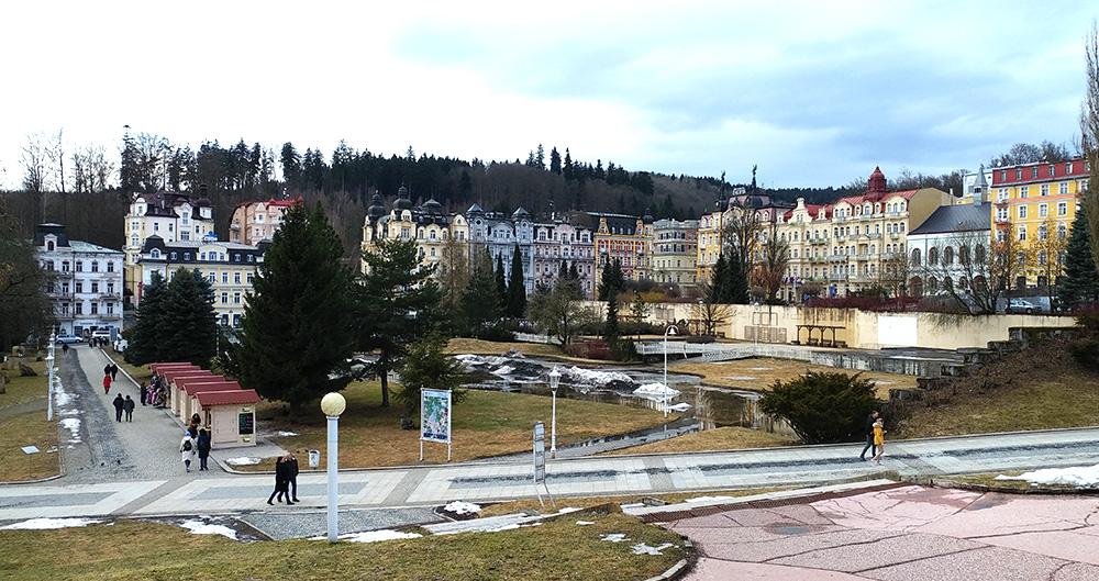 Tschechien - westböhmisches Bäderdreieck - Marienbad Stadtansicht