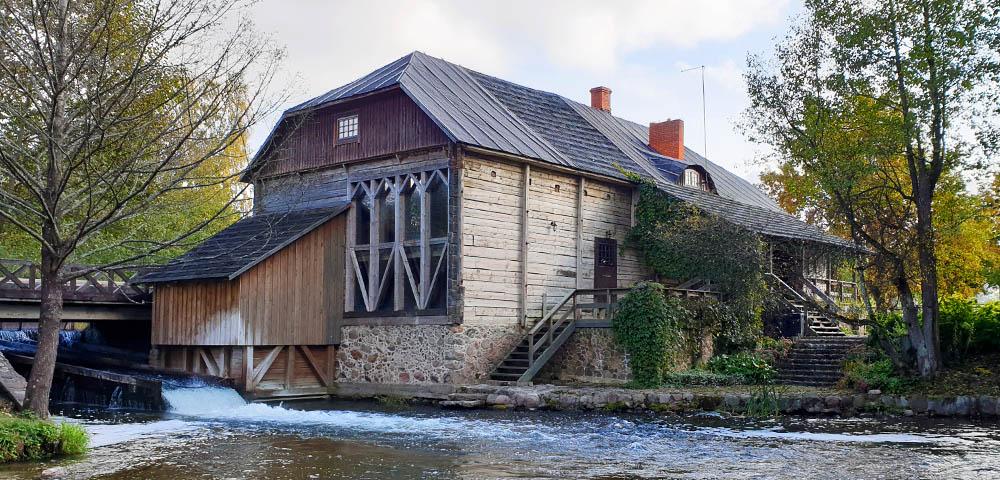 Wassermühle Ginuciai im Aukštaitija Nationalpark.