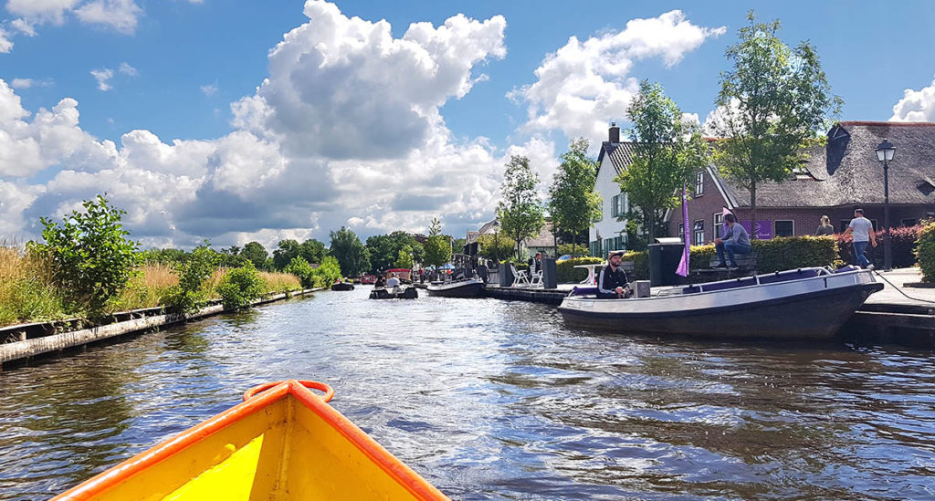 Bootstour durch Giethoorn - Holland - Niederlande - Bovenwijde - Bootsverleih