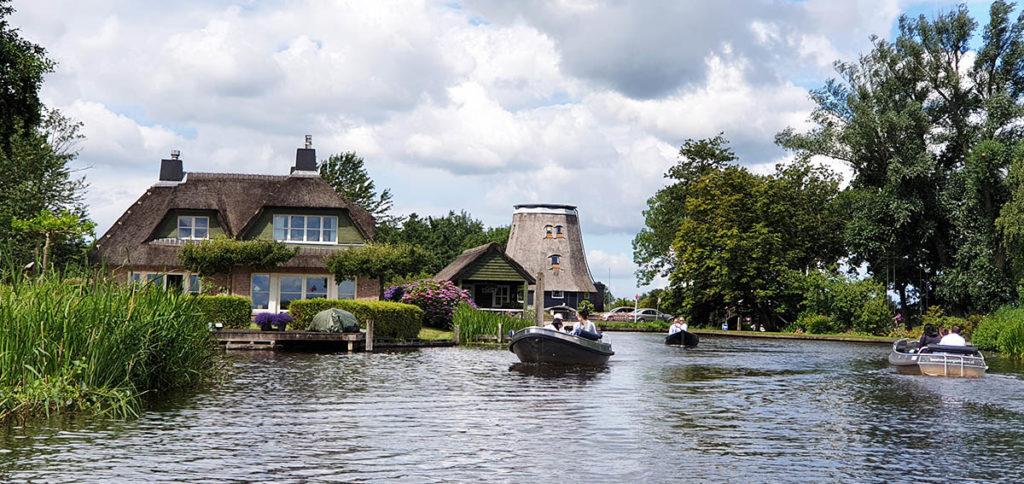 Bootstour durch Giethoorn - Holland - Niederlande - Bovenwijde - Molenvaart