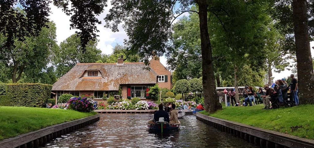 Bootstour durch Giethoorn - Holland - Niederlande - Bovenwijde - Volkensvaart