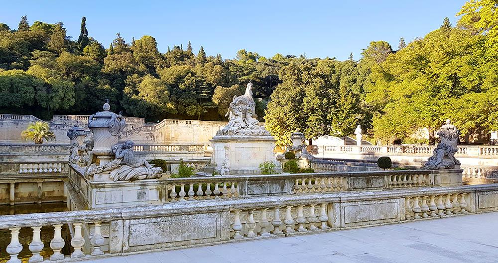 Jardins de la Fontaine Brunnenanlage