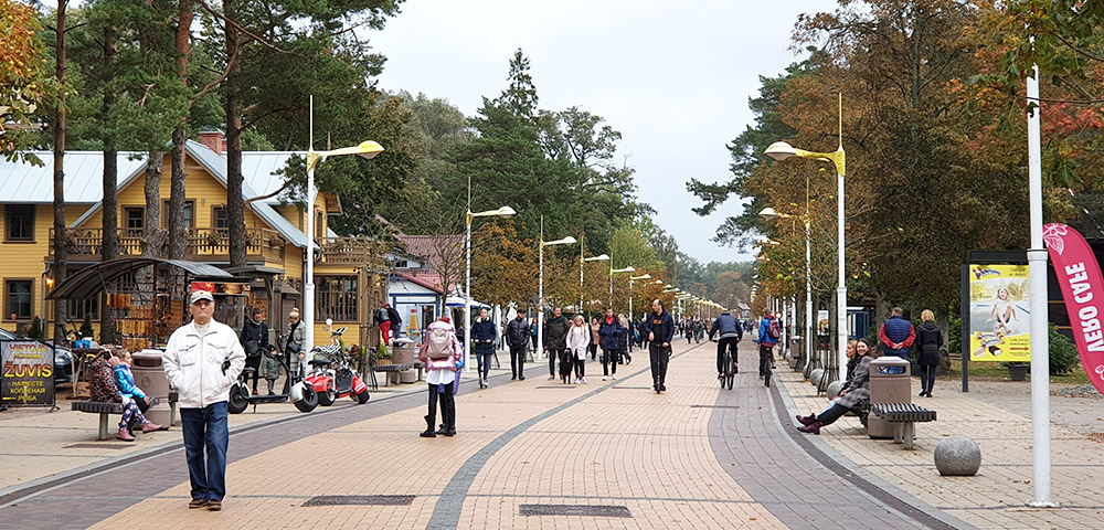 Basanavičiaus Straße in Palanga