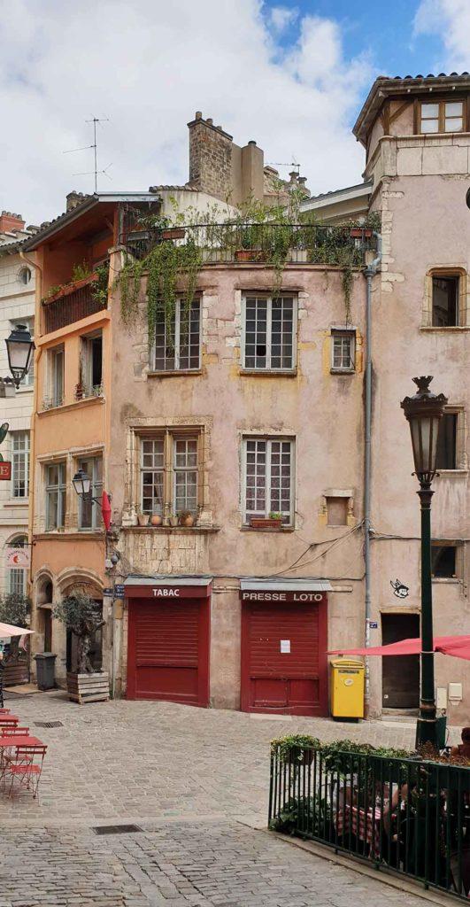 Der Place de la Trinité - Guignols Geburtsort in Lyon.