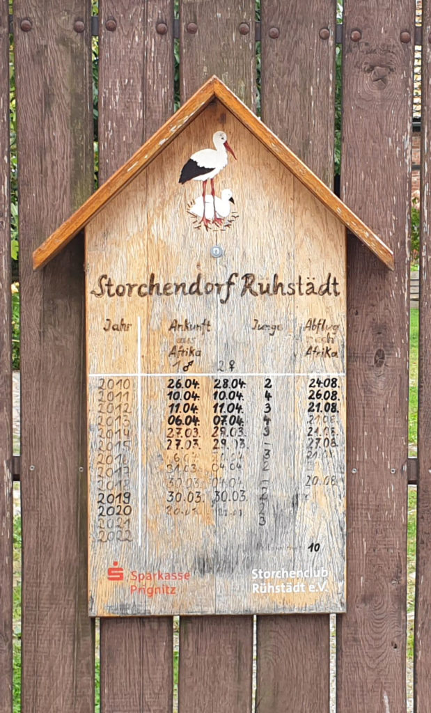 Infotafel Storchendorf Rühstädt - Prignitz