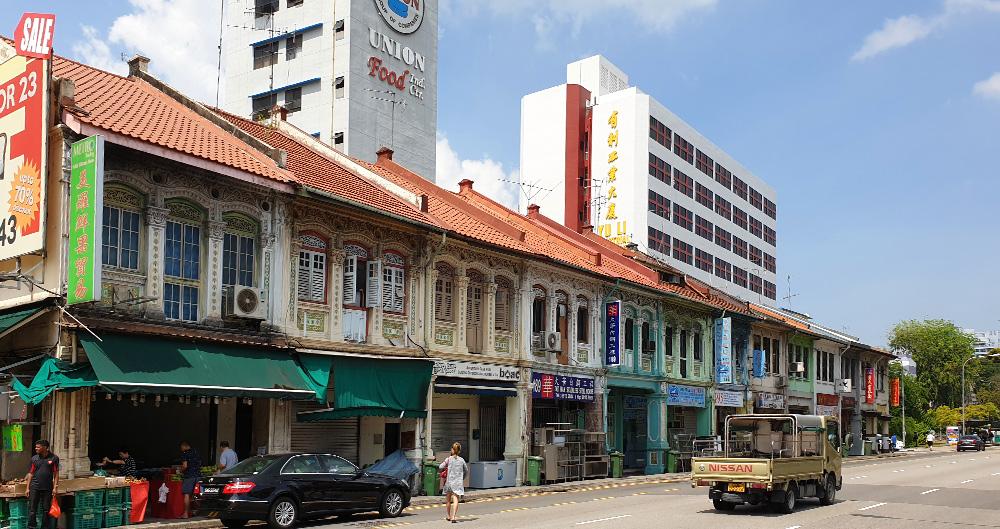Typische Architektur in Singapur - Shophouses
