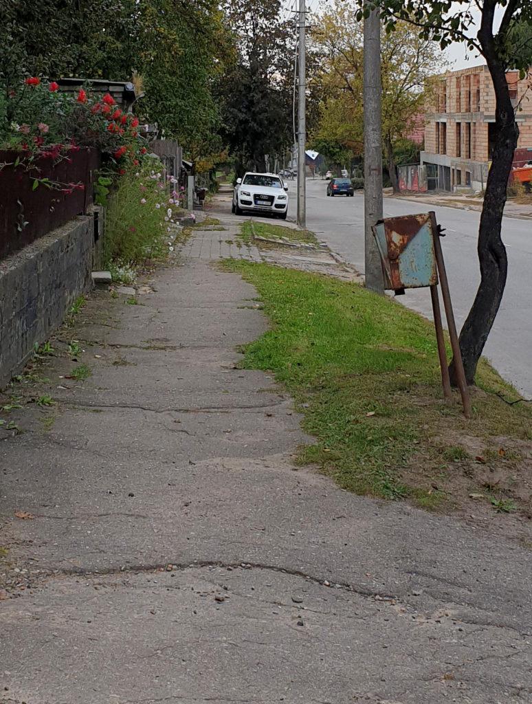 Eine ganz normale Seitenstraße in Kaunas