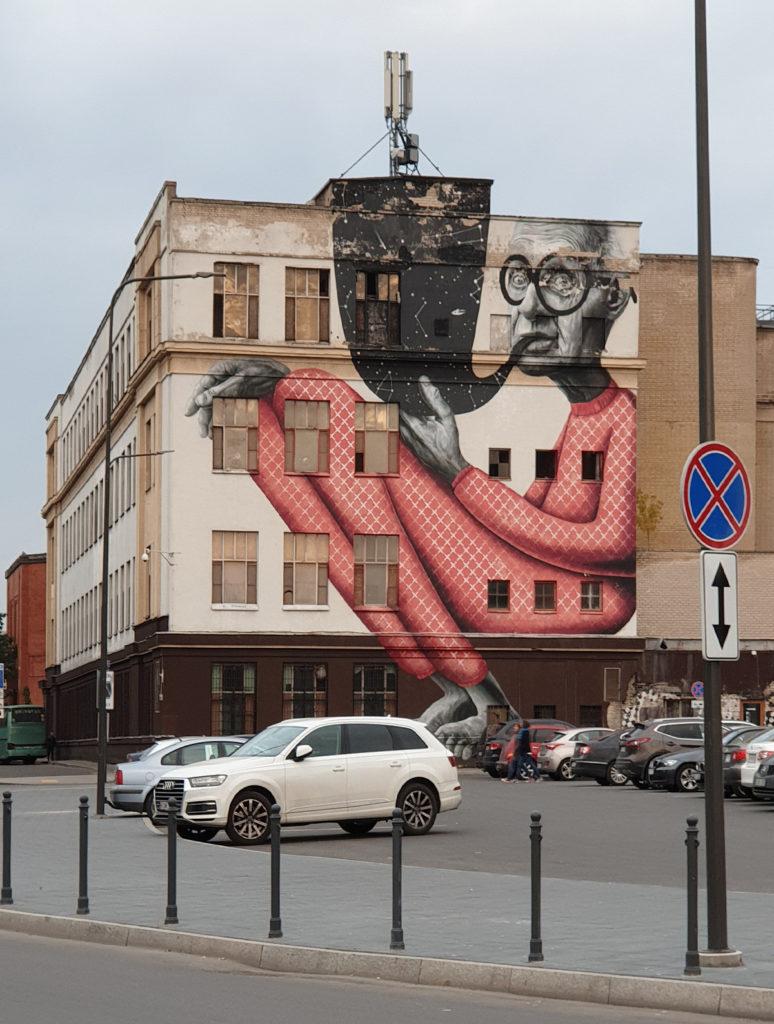 Streetart mit Glitzereffekt in Kaunas
