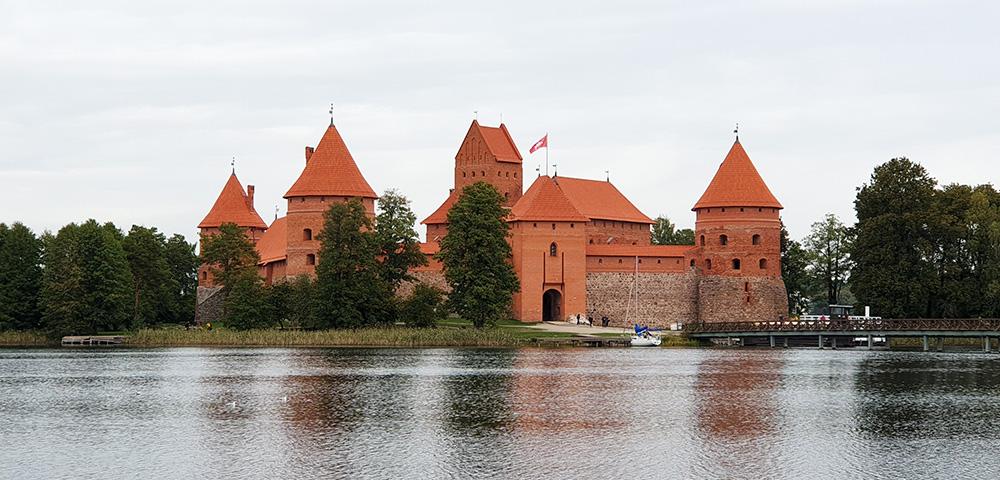 Die Wasserburg Trakai in Litauen