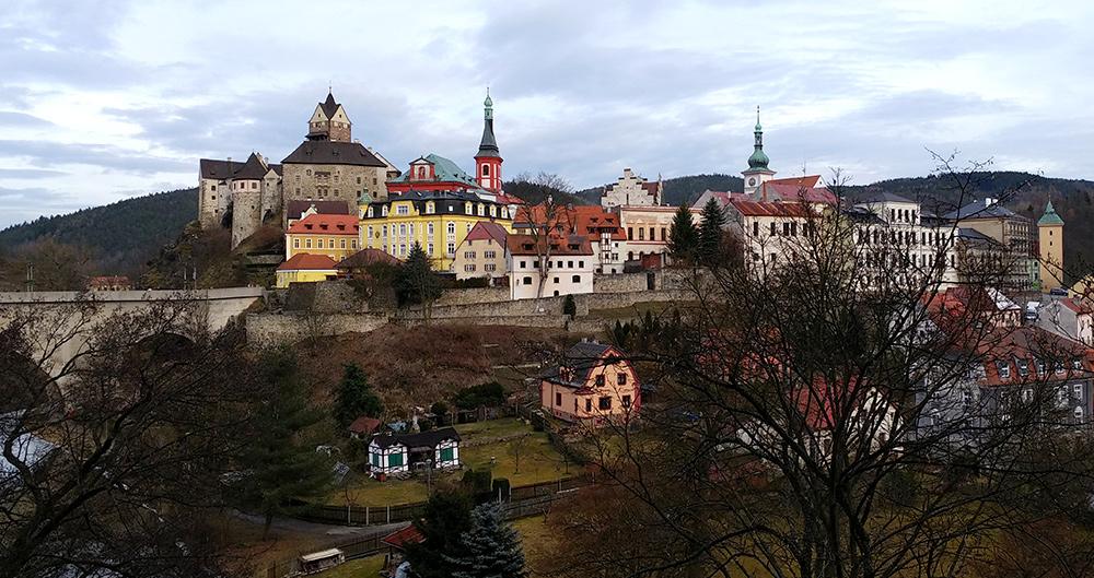 Tschechien Stadtansicht Loket