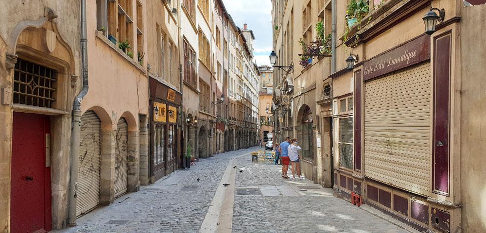 Straßen in Vieux Lyon - der Altstadt von Lyon