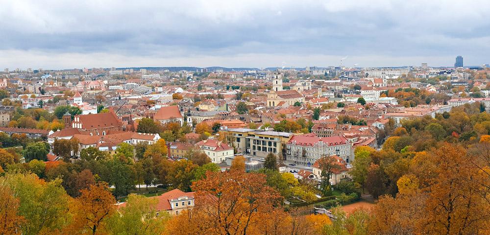 Ausblick auf Vilnius von den drei Kreuzen