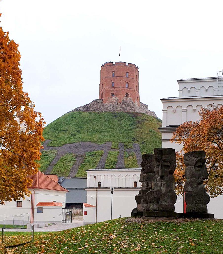 Der Gediminas Turm in Vilnius