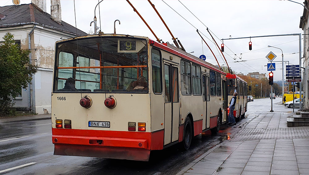 Oldschool Oberleitungsbus Vilnius